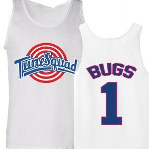 Shedd Shirts Shirts - Bugs Bunny Tune Squad Space Jam Tank Top Jersey